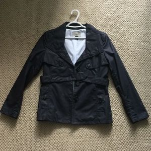 H&M Navy Blue Trench Jacket